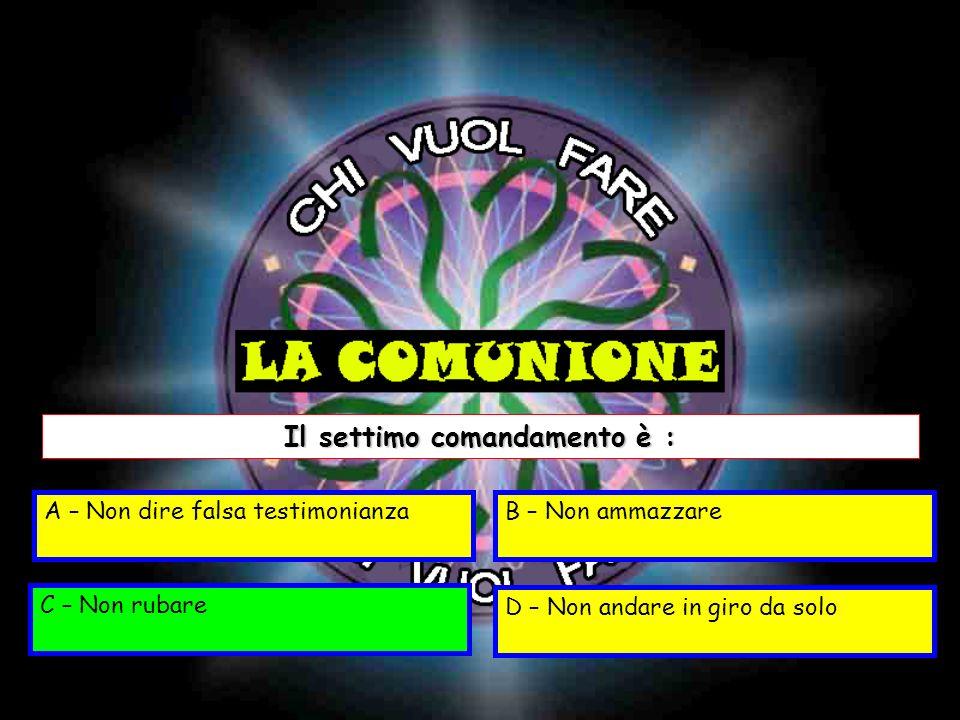 Il settimo comandamento è :