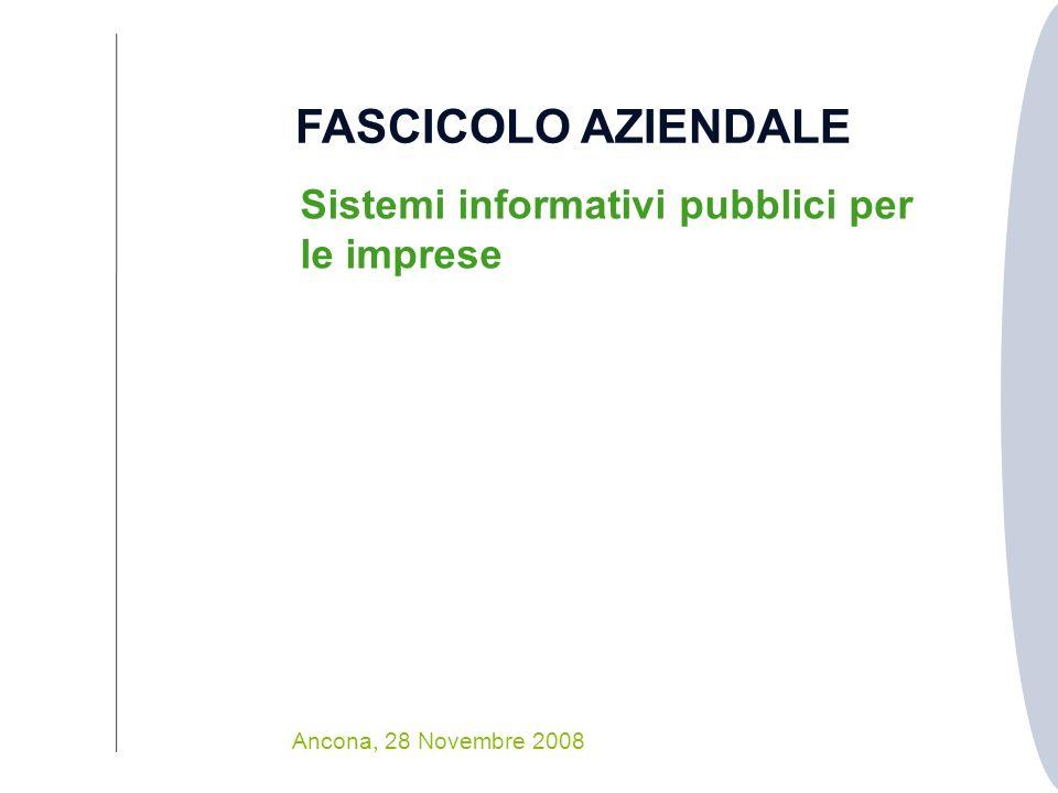 FASCICOLO AZIENDALE Sistemi informativi pubblici per le imprese