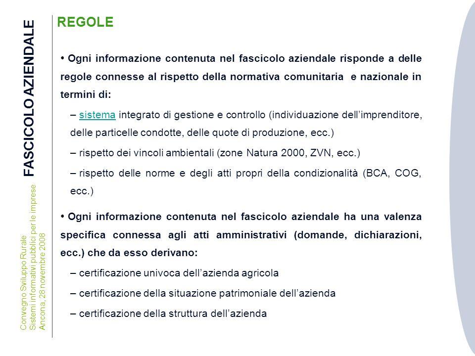 REGOLE FASCICOLO AZIENDALE