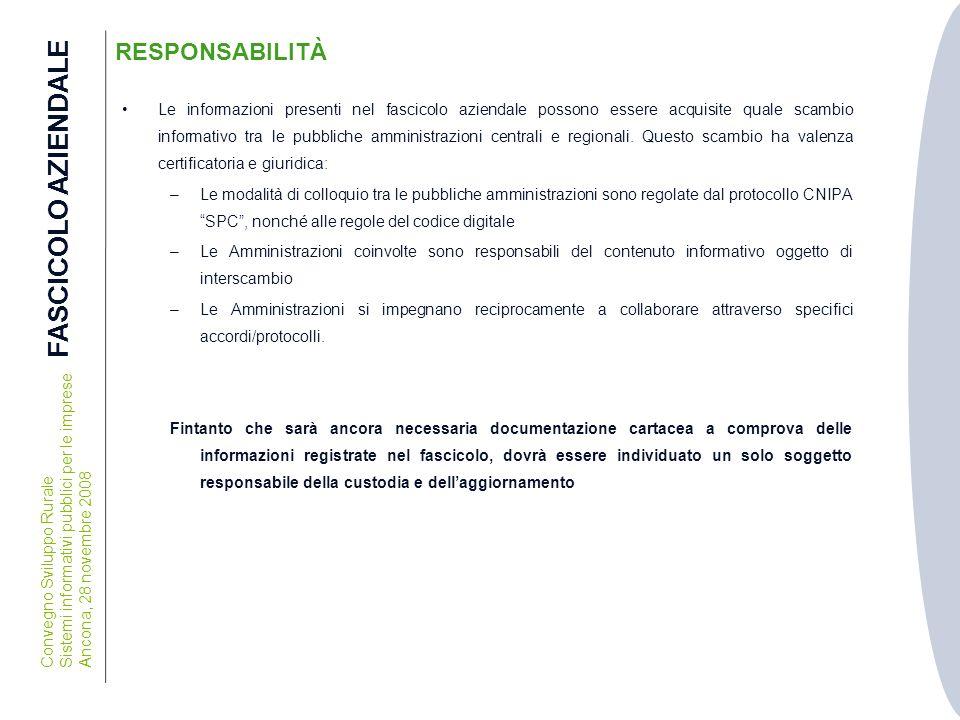 FASCICOLO AZIENDALE RESPONSABILITÀ
