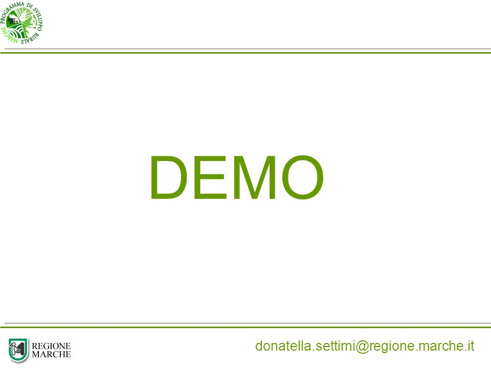 DEMO donatella.settimi@regione.marche.it