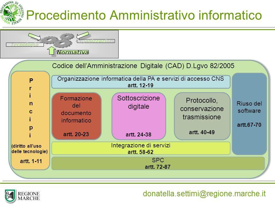 Procedimento Amministrativo informatico