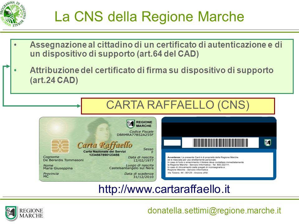 La CNS della Regione Marche