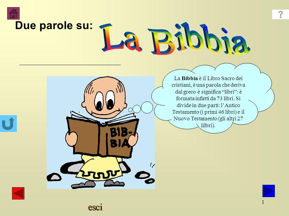 La Bibbia Due parole su: