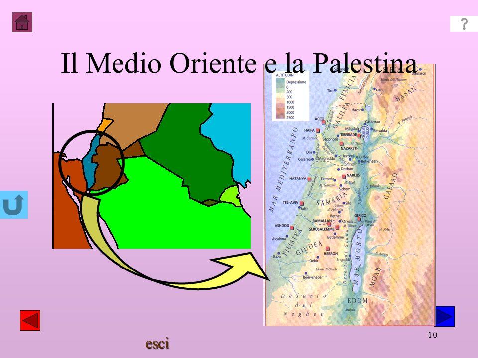 Il Medio Oriente e la Palestina