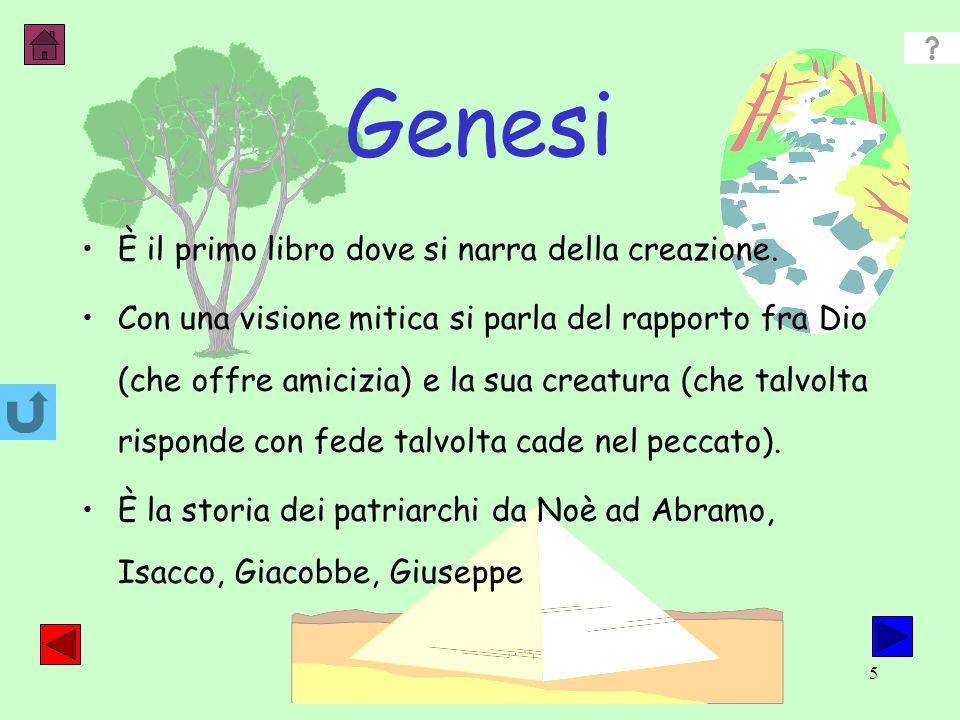 Genesi È il primo libro dove si narra della creazione.