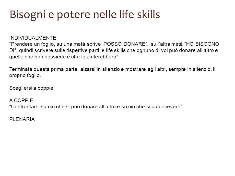 Bisogni e potere nelle life skills
