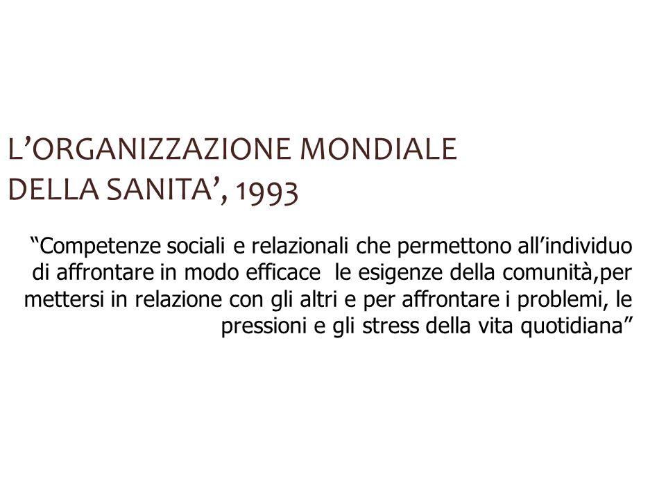 L'ORGANIZZAZIONE MONDIALE DELLA SANITA', 1993