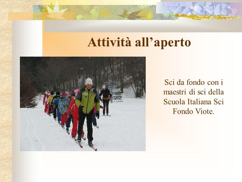 Attività all'aperto Sci da fondo con i maestri di sci della Scuola Italiana Sci Fondo Viote.