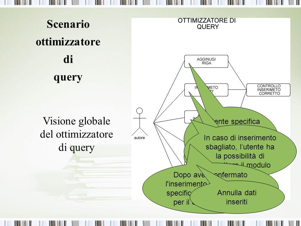 Scenario ottimizzatore di query