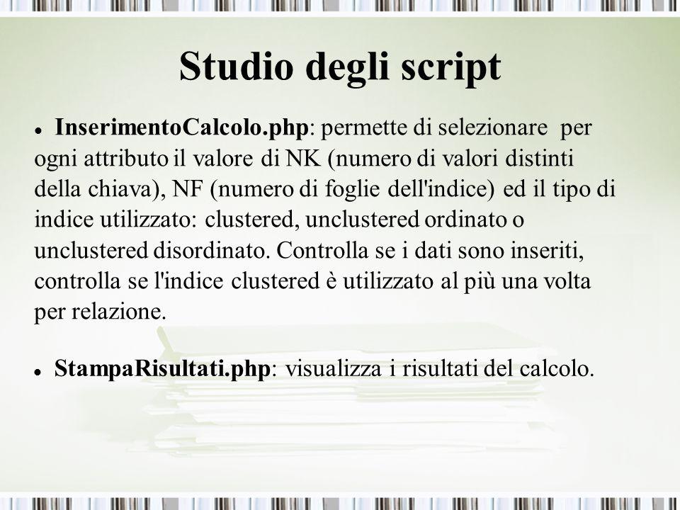 Studio degli script