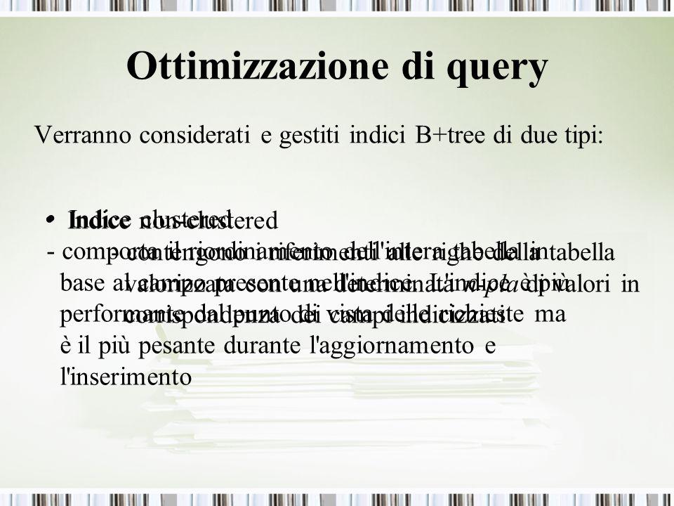 Ottimizzazione di query
