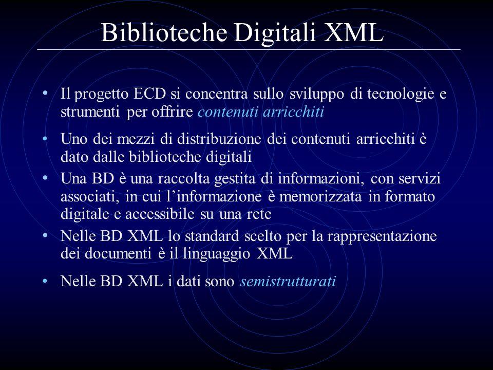 Biblioteche Digitali XML