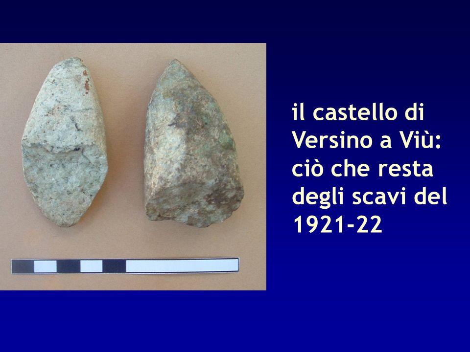 il castello di Versino a Viù: ciò che resta degli scavi del 1921-22