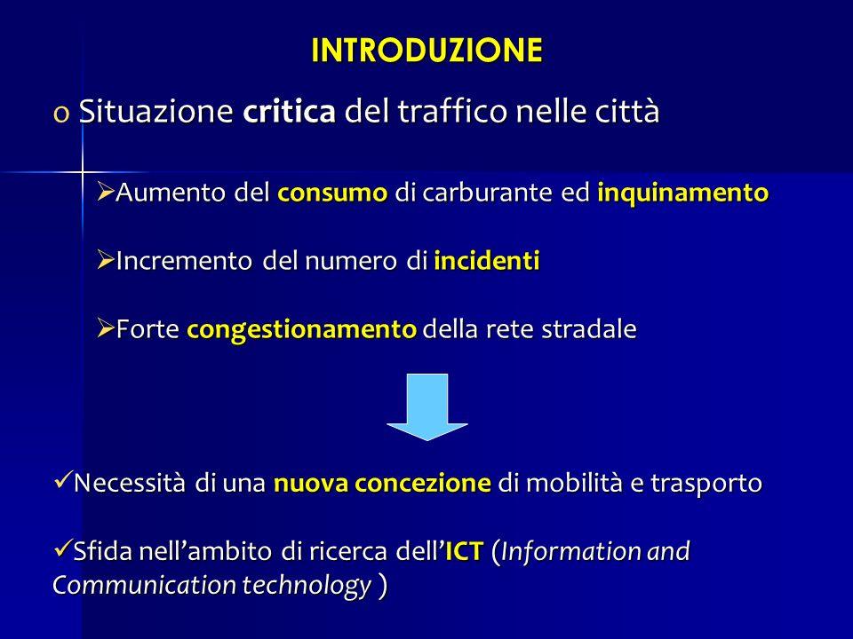 Situazione critica del traffico nelle città