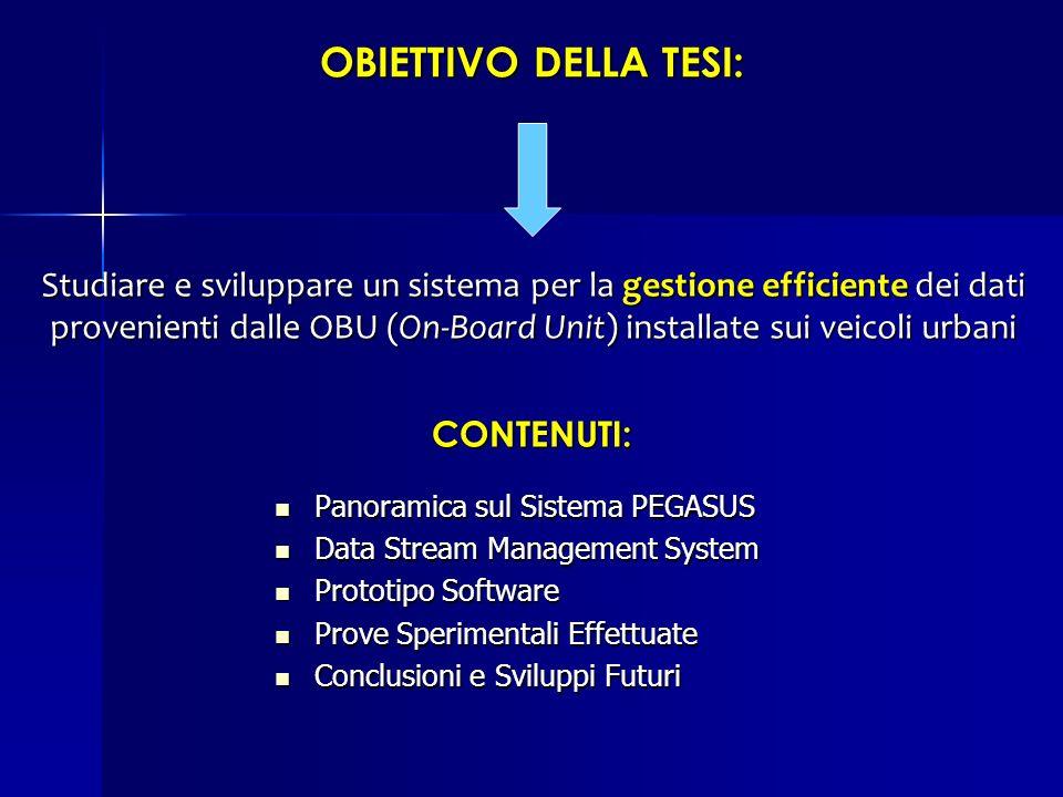 OBIETTIVO DELLA TESI: Studiare e sviluppare un sistema per la gestione efficiente dei dati.