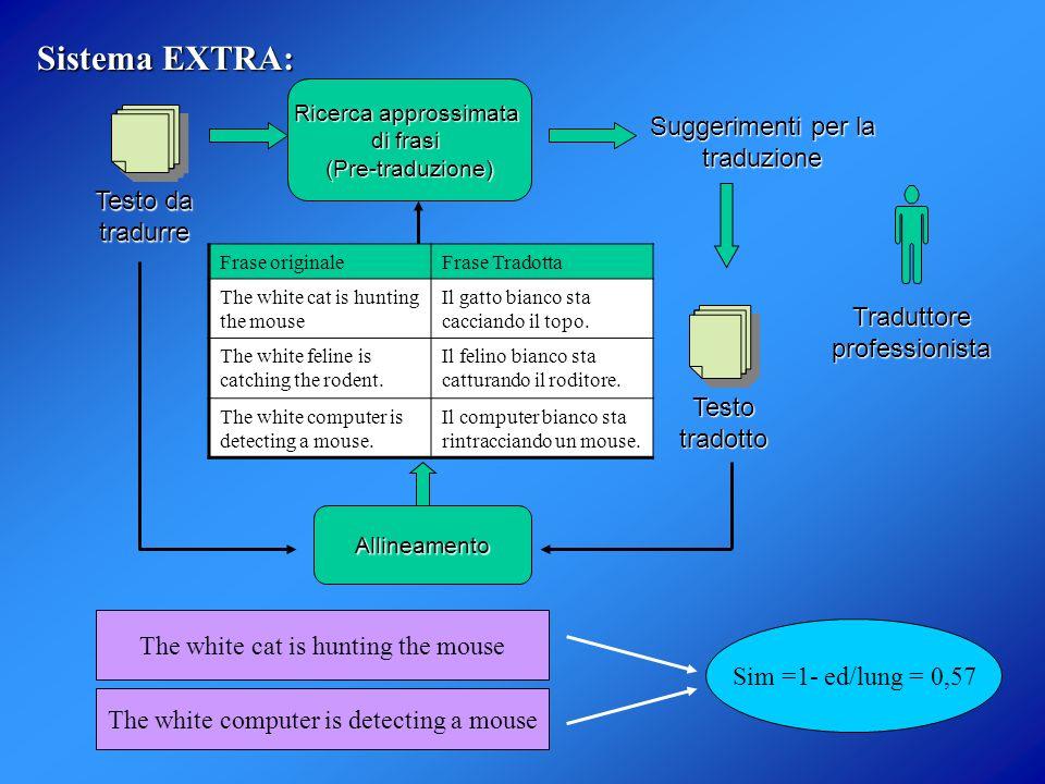 Sistema EXTRA: Testo da tradurre Suggerimenti per la traduzione