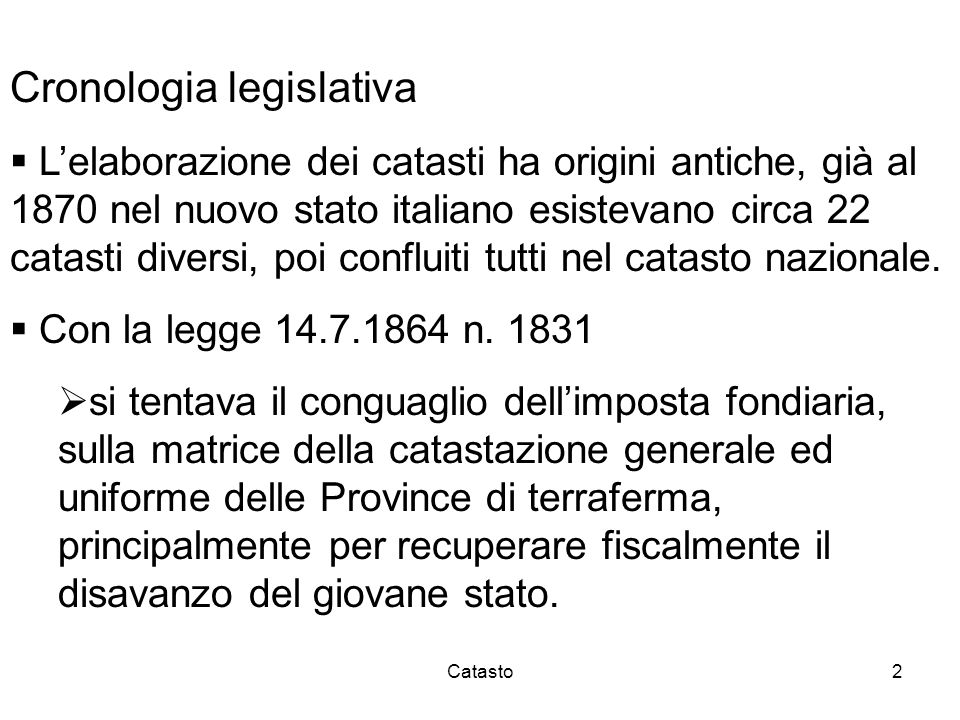 Cronologia legislativa