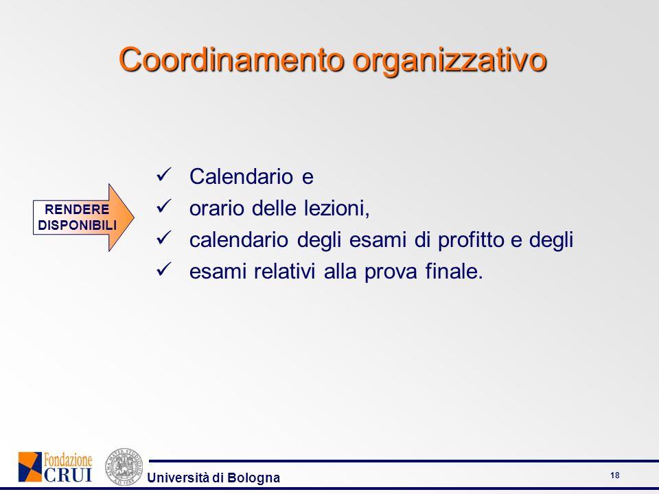 Coordinamento organizzativo