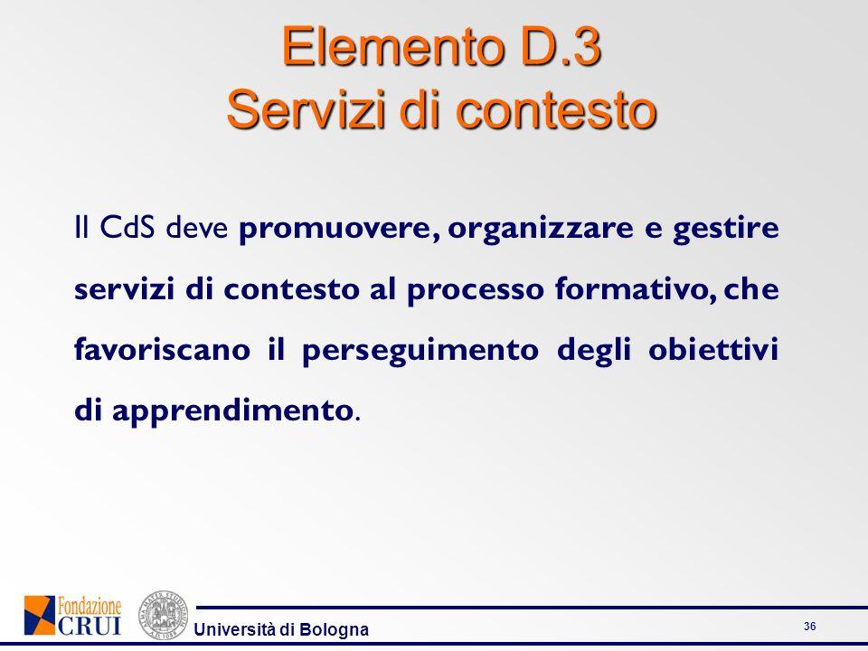 Elemento D.3 Servizi di contesto