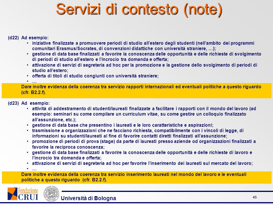 Servizi di contesto (note)