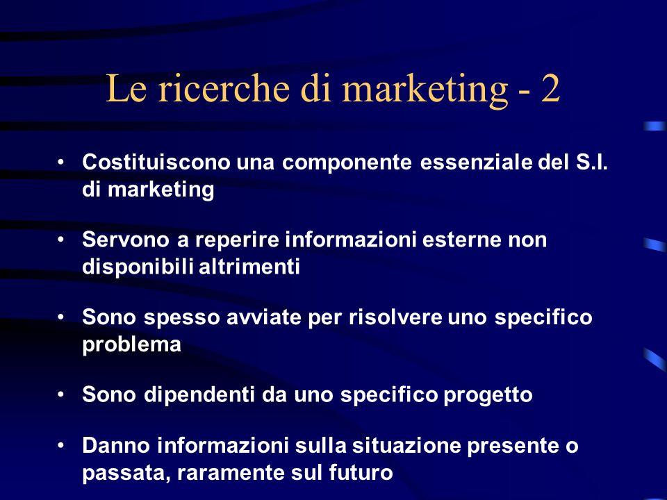 Le ricerche di marketing - 2