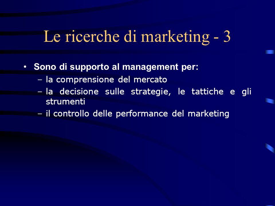 Le ricerche di marketing - 3