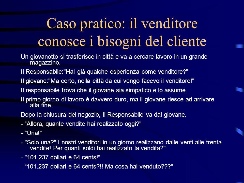 Caso pratico: il venditore conosce i bisogni del cliente