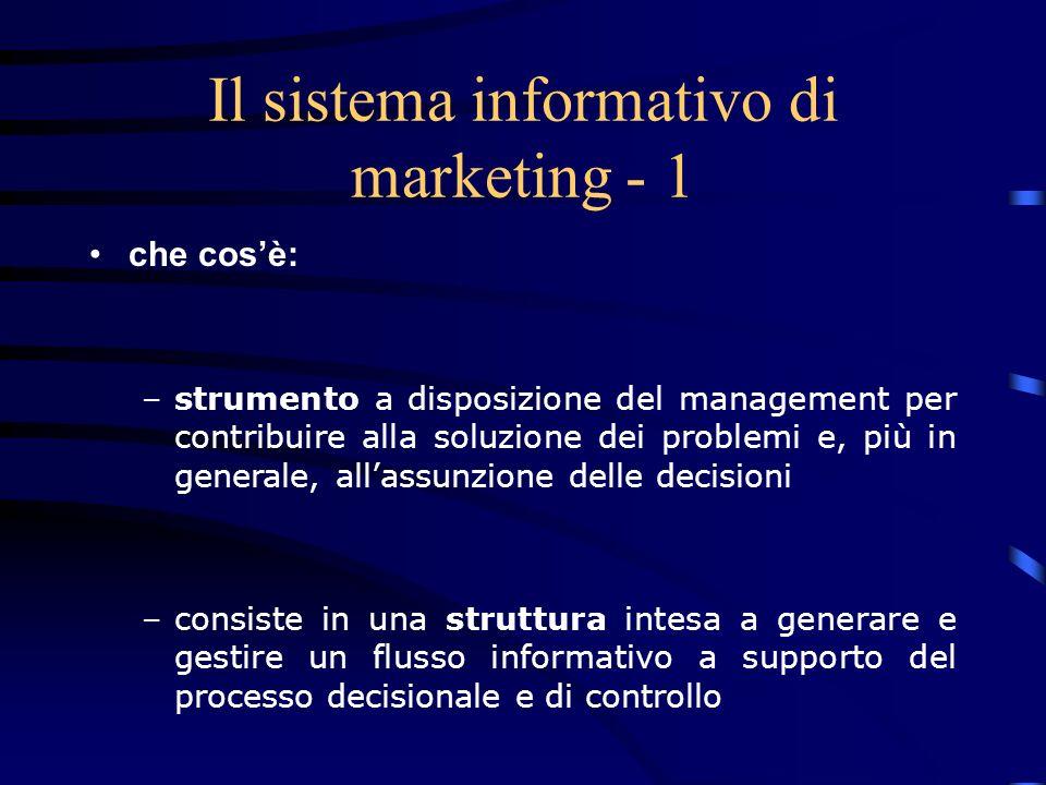 Il sistema informativo di marketing - 1