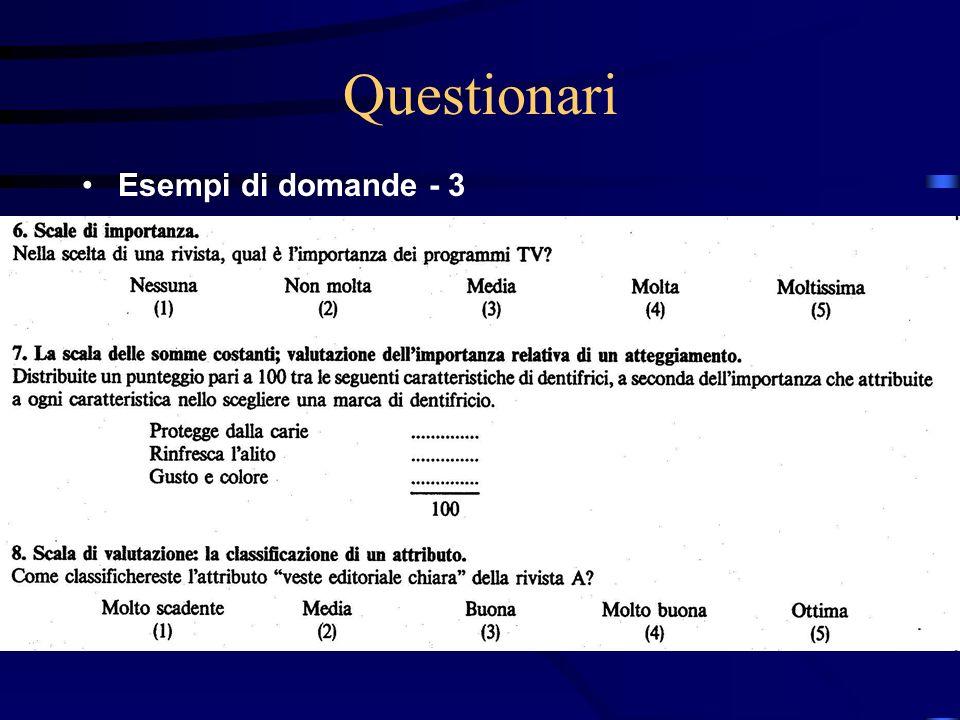 27/03/2017 Questionari Esempi di domande - 3