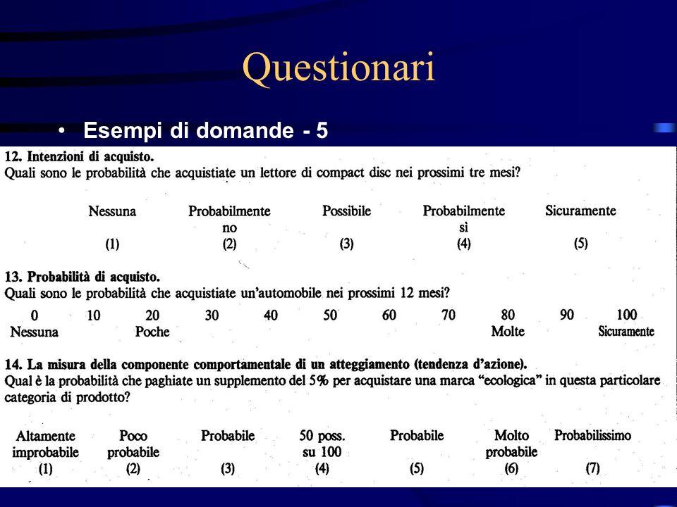 27/03/2017 Questionari Esempi di domande - 5