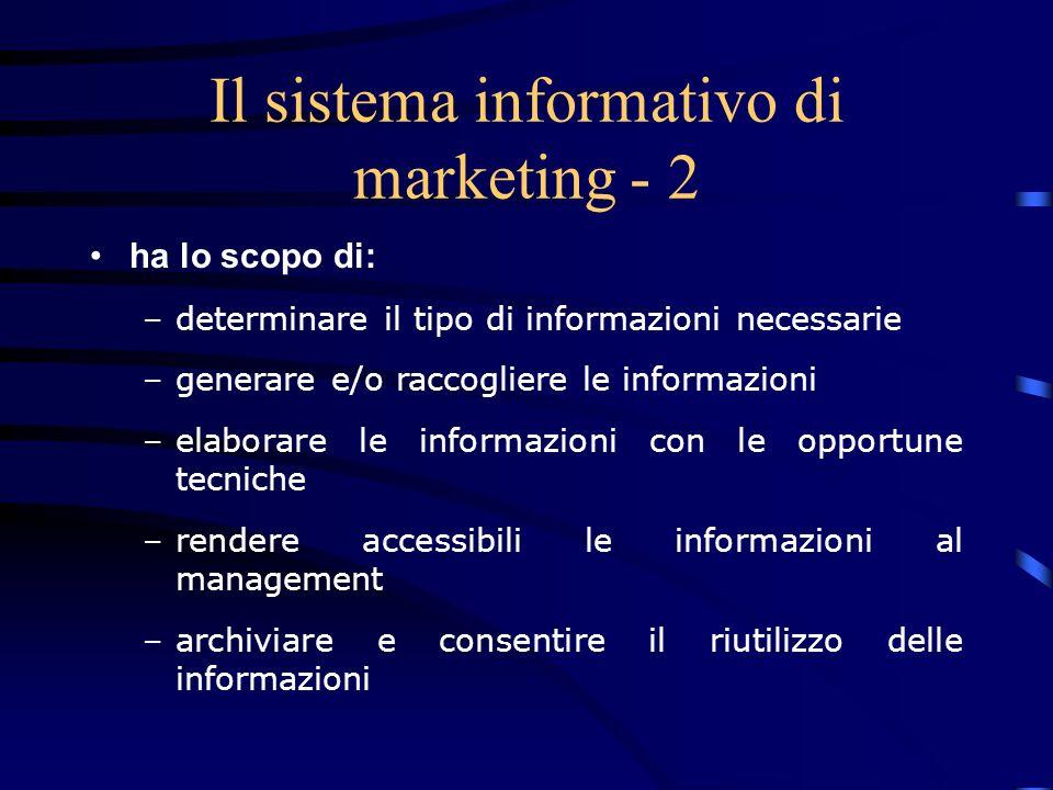 Il sistema informativo di marketing - 2