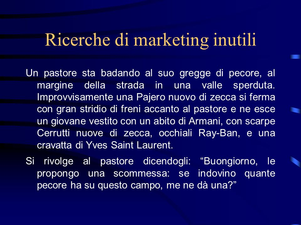 Ricerche di marketing inutili