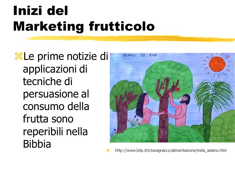 Inizi del Marketing frutticolo