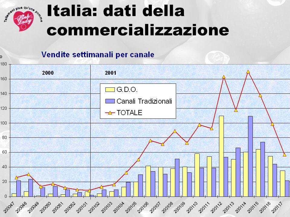 Italia: dati della commercializzazione