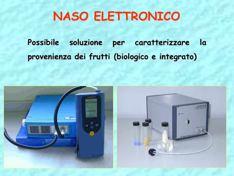 NASO ELETTRONICO Possibile soluzione per caratterizzare la provenienza dei frutti (biologico e integrato)