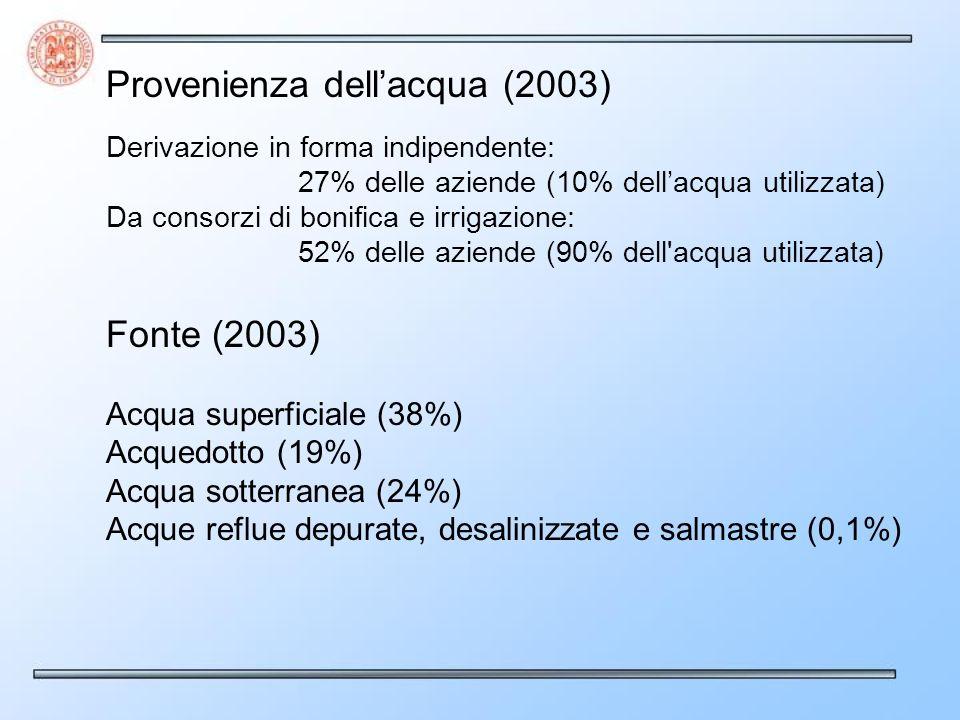 Provenienza dell'acqua (2003)
