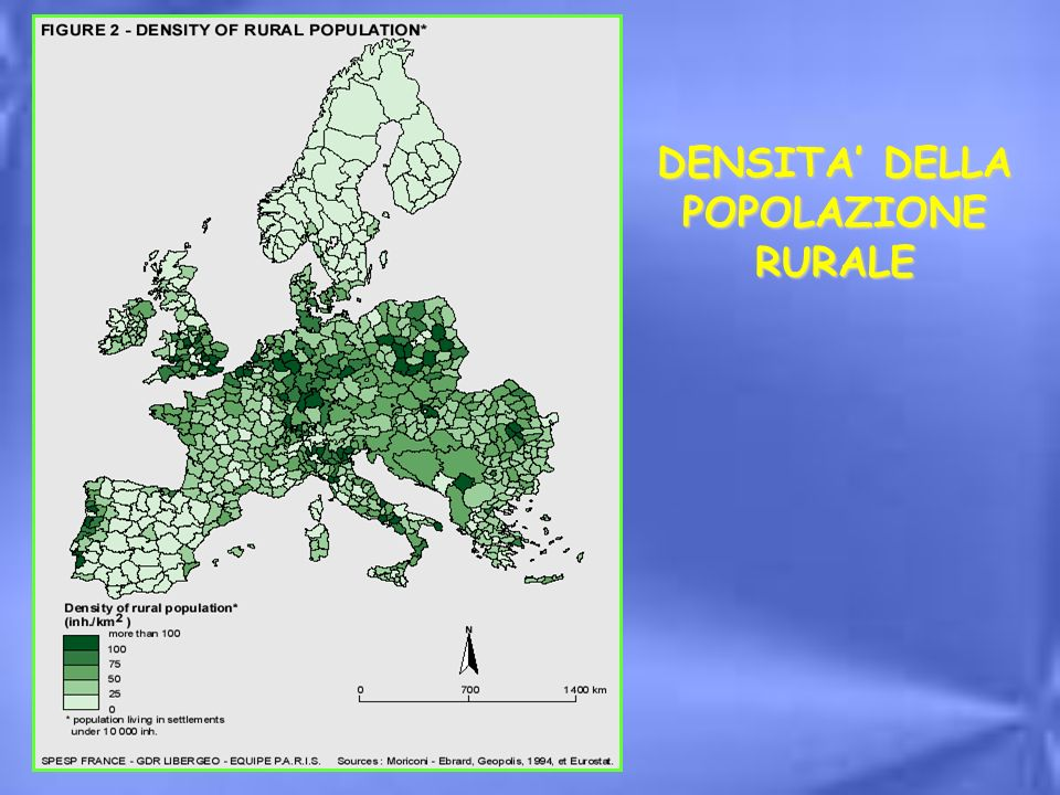 DENSITA' DELLA POPOLAZIONE RURALE