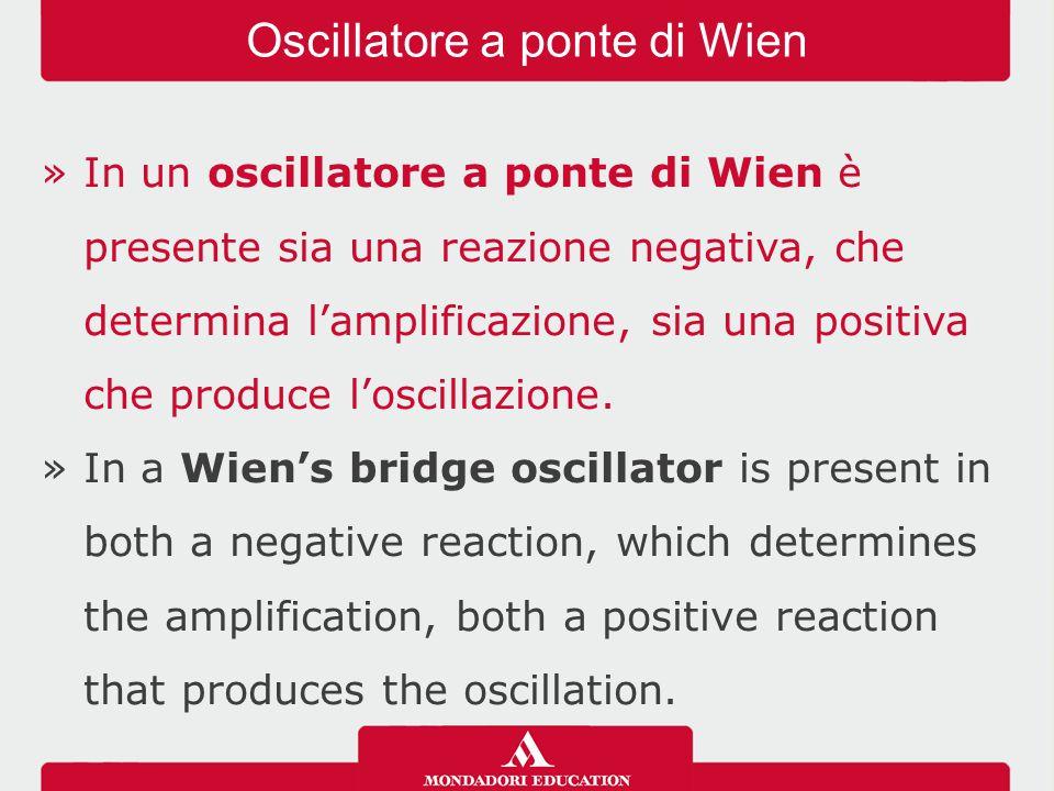 Oscillatore a ponte di Wien