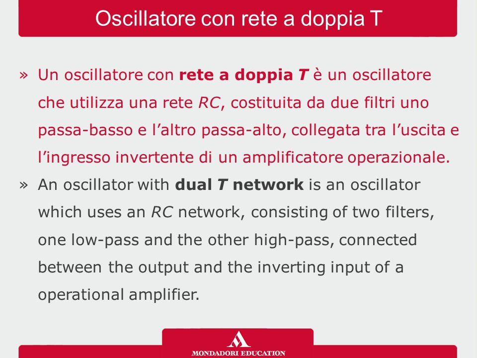 Oscillatore con rete a doppia T
