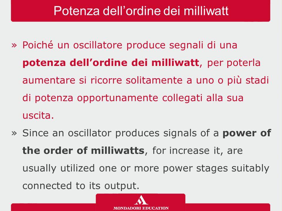 Potenza dell'ordine dei milliwatt