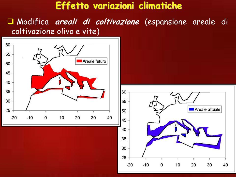 Effetto variazioni climatiche