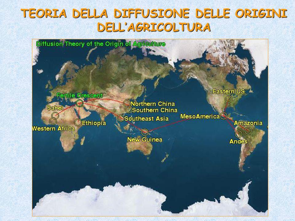 TEORIA DELLA DIFFUSIONE DELLE ORIGINI DELL'AGRICOLTURA