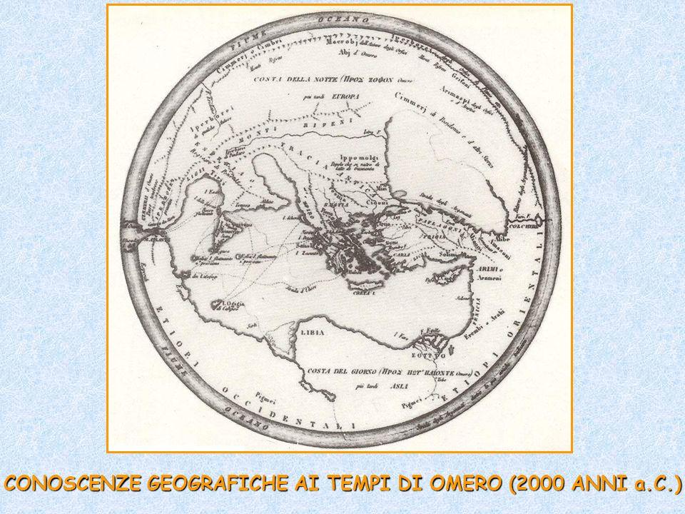 CONOSCENZE GEOGRAFICHE AI TEMPI DI OMERO (2000 ANNI a.C.)