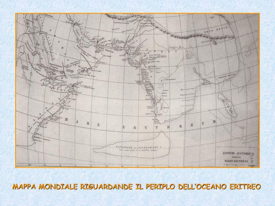 MAPPA MONDIALE RIGUARDANDE IL PERIPLO DELL'OCEANO ERITREO