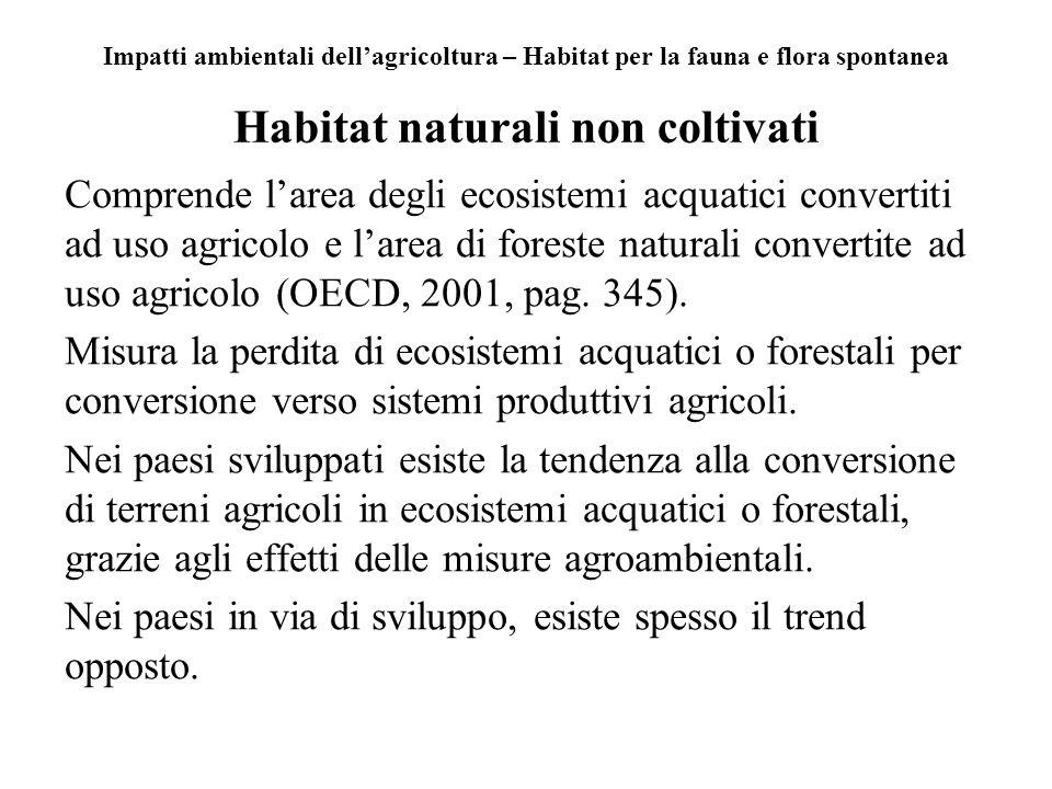 Habitat naturali non coltivati