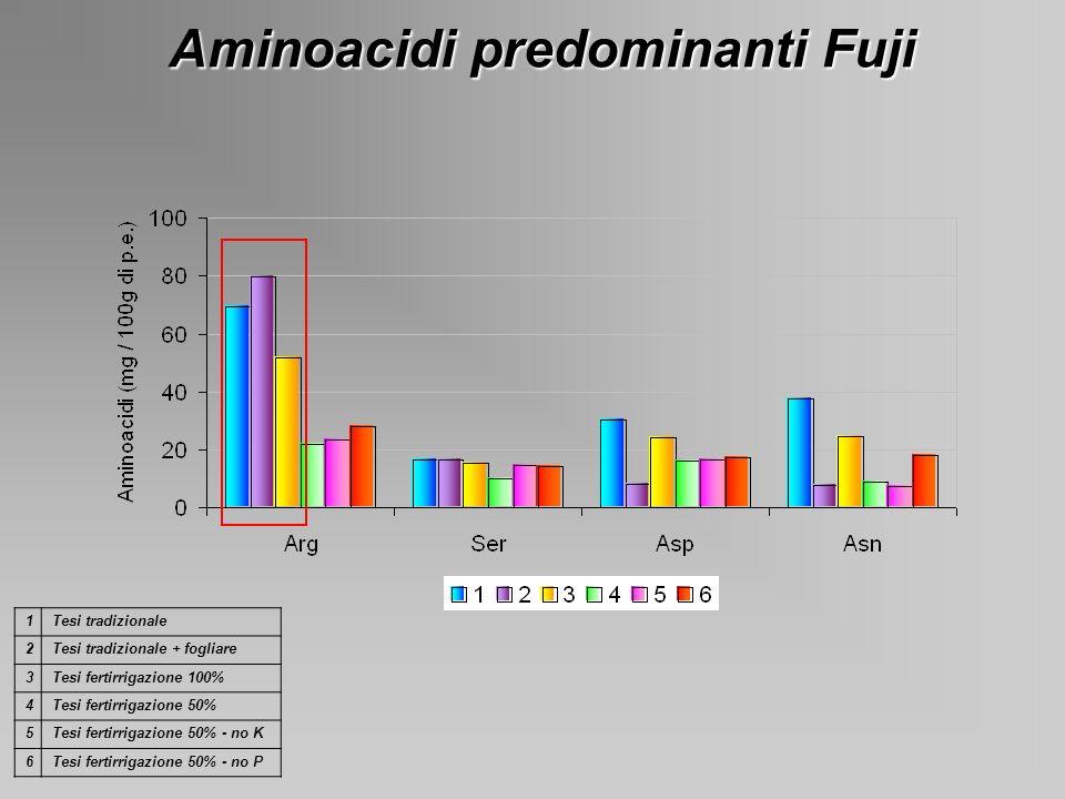 Aminoacidi predominanti Fuji