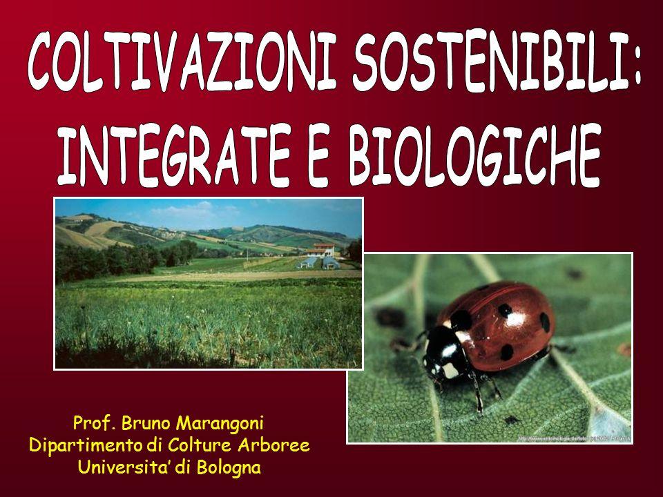 COLTIVAZIONI SOSTENIBILI: INTEGRATE E BIOLOGICHE