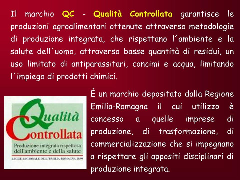 Il marchio QC - Qualità Controllata garantisce le produzioni agroalimentari ottenute attraverso metodologie di produzione integrata, che rispettano l´ambiente e la salute dell´uomo, attraverso basse quantità di residui, un uso limitato di antiparassitari, concimi e acqua, limitando l´impiego di prodotti chimici.