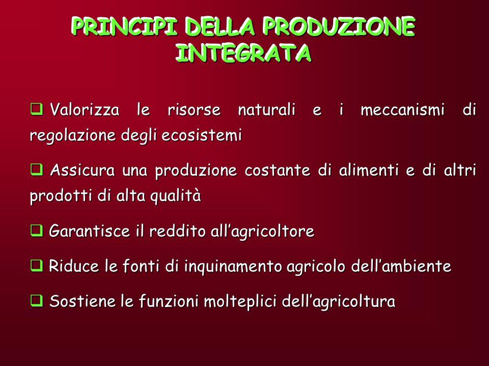 PRINCIPI DELLA PRODUZIONE INTEGRATA